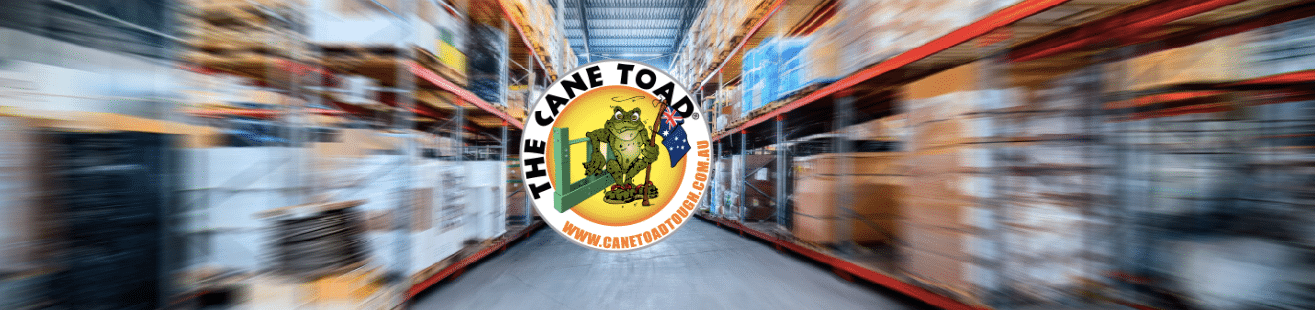 Pallet Racking Improvement Business Logo - The Cane Toad